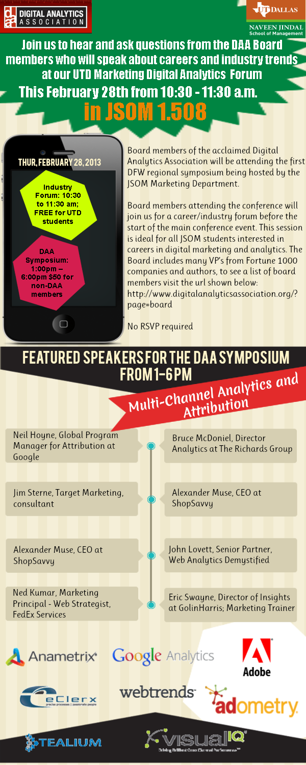 UT Dallas Hosts the Digital Analytics Association Symposium