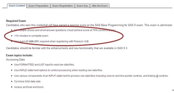 A road map to becoming a certified sas programmer ut dallas for example in the first exam tab you would find out information on the exam time number of questions question types and also exam topics fandeluxe Image collections